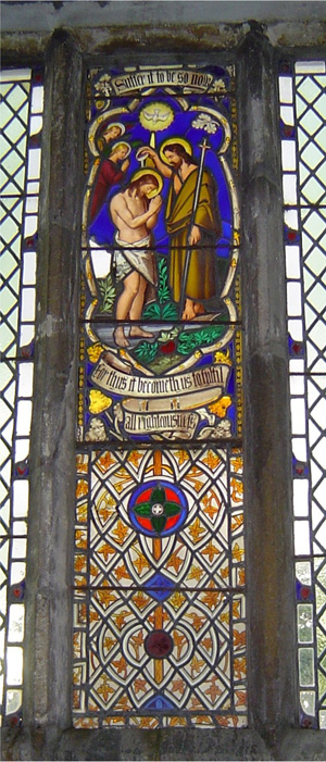 Stained Glass Window in South Vestry